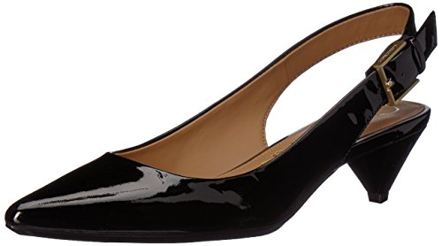 Calvin Klein Women's Lara Pump, Black, 6 Medium US by Calvin Klein