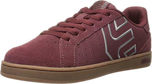 ETNIES Fader LS Schuh - burgundy / gum Größe: 7.5 Farbe: Rot