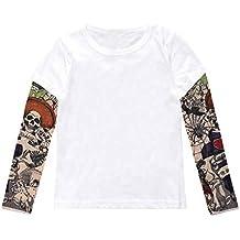 TIANRUN Baby Hip Hop T-Shirt for 1-6 Years Toddler Kids Baby Girls Boys Teens Cotton Tattoo Printed Casual Basic Tops