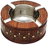 Thanks Giving Gift for your Loved Ones, Wooden Cigarette Ashtray,smoking Ashtray ,With Round