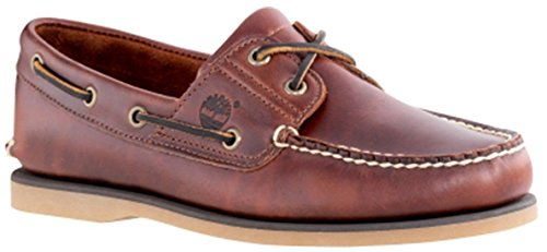 Mens Classic Boat (Timberland Men's Classic 2-Eye Boat Shoe, Rootbeer/Brown, 11.5 M)