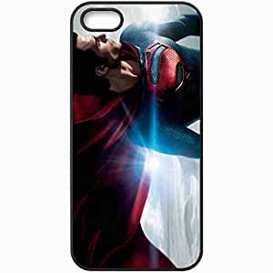 Personalized iPhone 5 5S Cell phone Case/Cover Skin 2013 man of steel movie movies Black