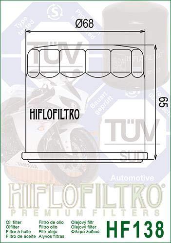 Suzuki VZ800 Marauder 97 98 99 00 01 02 03 04 Chrome Oil Filter Genuine OE Quality HiFlo HF138C