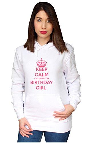 BENVESTI Sweats à Capuche Femme Keep Calm Birthday Girl Sweatshirt Personnalisé SW.SPR13