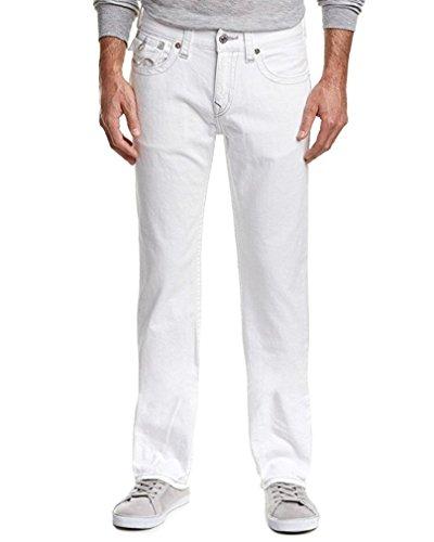 True Religion Mens Optic White Straight Leg (38)