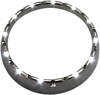"Custom Dynamics 7"" LED Chrome Halo Headlight Trim Ring with Turn Signals CDTB-7TR-4C"