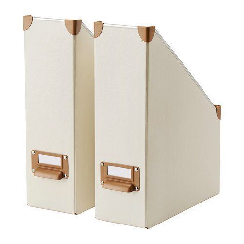 Amazon.com: Ikea Fjlla Magazine File, Off-white-2 Pack: Home & Kitchen