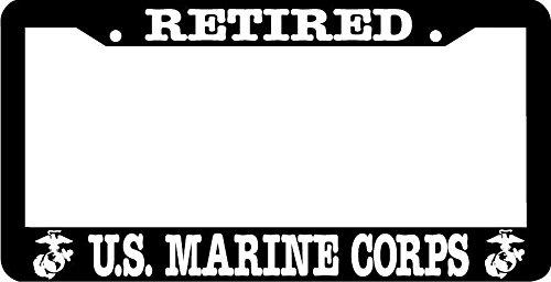 (Retired Us Marine Corps Us Marine License Plate Frame )