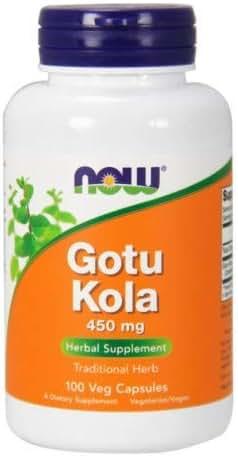Gotu Kola, 450 mg, 100 Caps by Now Foods (Pack of 2)