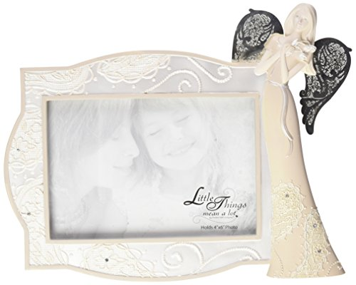 Little Things Mean A Lot Special Memories Picture Frame with Angel, 9-1/2 by 7-3/4-Inch, Holds 4 by 6 Inch ()