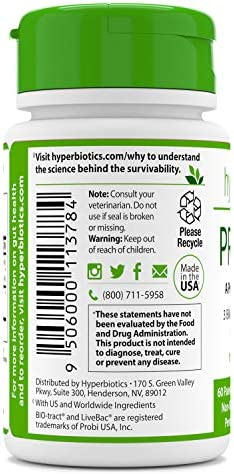 PRO-Pets Probiotics for Dogs and Cats Time Release Probiotic for Your Companion s Health Dog or cat – Very Easy to Swallow – 6 Strains – 15x More Effective Than Others – Top Supplement for Pets
