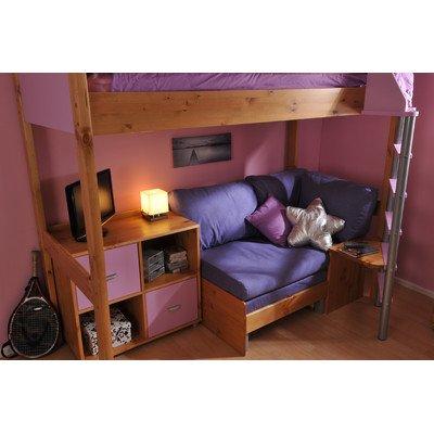 Fabulous Casa High Sleeper Sofa Bed With 4 Cube Unit Frame Finish Camellatalisay Diy Chair Ideas Camellatalisaycom
