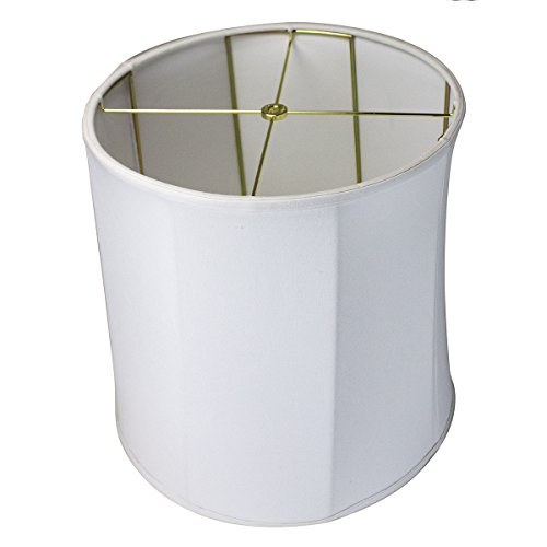 14x15x15 Collapsible Drum Lampshade Premium White Linen w...