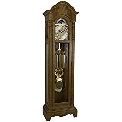 Hermle 010809I91161 Rutland Triple Chime Grandfather Clock - Light Oak