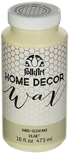 FolkArt 34863 Home Decor Chalk Furniture & Craft Paint in Assorted Colors, 16 Ounce, Clear Wax