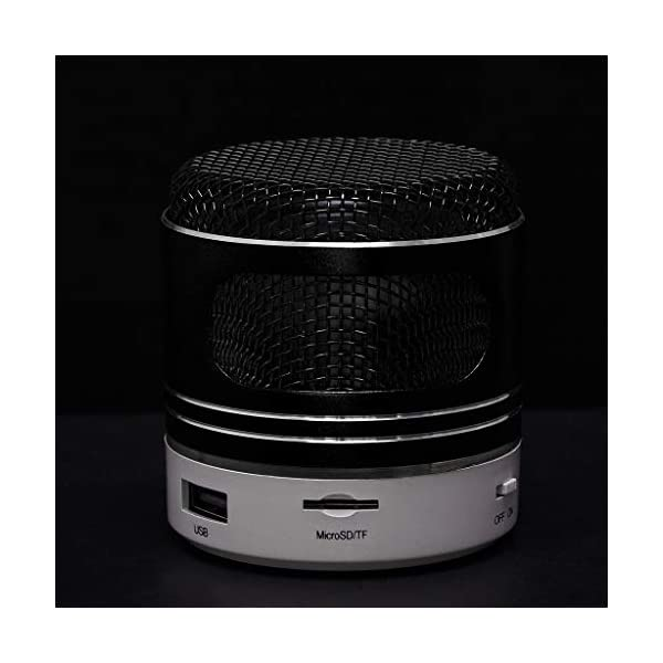 zycShangMini Bluetooth Président LED USB Lumière sans Fil Portable Boîte à Musique Subwoofer (Noir) 2