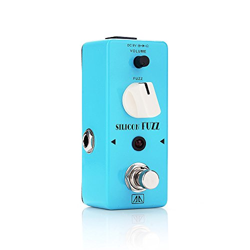 AA - ASF-5 SILICON FUZZ True Bypass Mini Portable Guitar Effects Pedal for Guitar Bass