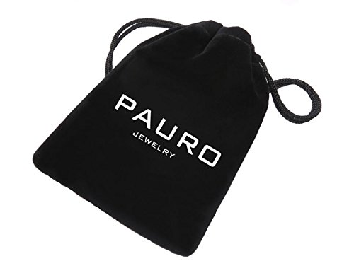 PAURO Men's Stainless Steel Jewelry Spearhead Indian Arrowhead Pendant Spear Point Arrow Necklace Black with Chain by PAURO (Image #4)