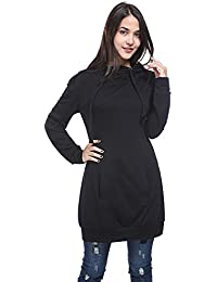 "<span class=""a-offscreen"">[Sponsored]</span>Women's Pullover Long Sleeve Solid Turtleneck Hoodie Sweatshirt"