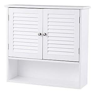 Amazon.com: TANGKULA Wall Cabinet Medicine Cabinet Wood