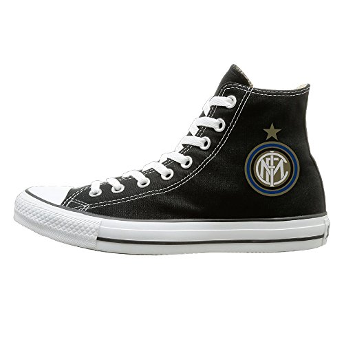 - Apopfull Inter Milan Soccer Club Fashion Casual Canvas High-top Sneakers Unisex 40