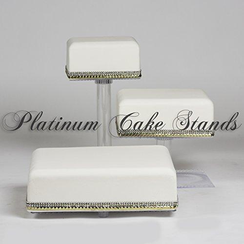 Tier 3 Cascade (3 TIER CASCADE WEDDING CAKE AND CUPCAKE STAND (SQ308)))