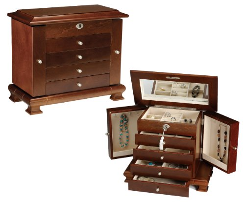 Seya Walnut Locking Jewelry Box