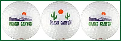 Grand Canyon w/ Cactus & Mountains Golf Ball Gift Set
