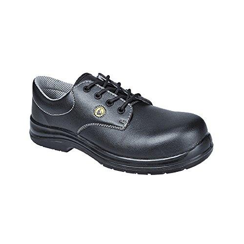 Portwest FC01 - Calzado de seguridad ESD S1 43/9, color Negro, talla 43 Blanco