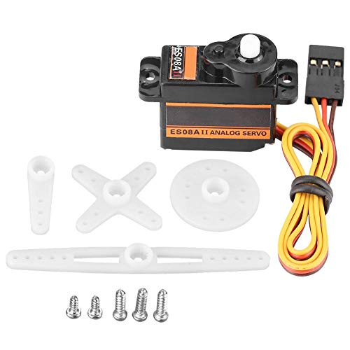 Dilwe RC Model Servo, EMAX ES08AII Micro Highly Sensitive Analog Servo for RC Model Accessory Parts