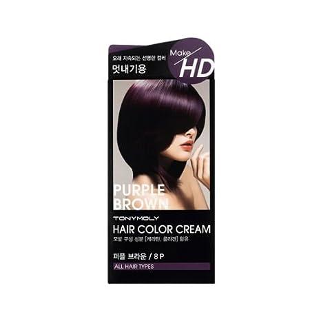 Tonymoly Make Hd Hair Color Cream Rubyruby 8p Purple Brown