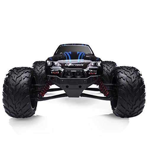 HOSIM All Terrain RC Car 9112, 38km/h 1/12 Scale Radio Controlled Electric Car - Offroad 2.4Ghz 2WD Remote Control Truck - Best Christmas Gift for Kids and Adults (Blue) (Rc Waterproof Trucks Cheap)