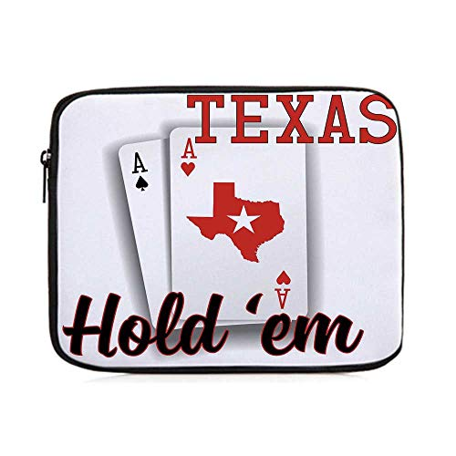 Poker Tournament Decorations,Texas Holdem Theme Pair of Aces with Map Winning Hand Decorative,One Size