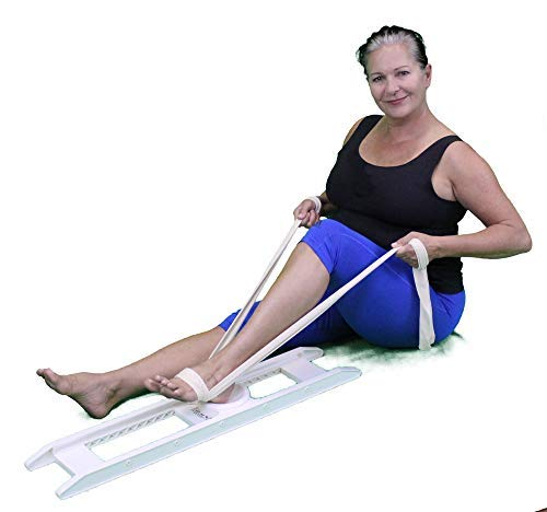 EZ Mend Knee and Hip Rehabilitation Device, for post surgery exercises, sports injuries and nursing home patients. ()