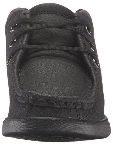 Timberland Groveton piel moc-toe Chukka Botas de senderismo (Toddler/Little Kid/Big Kid) negro, (Black Tech Tuff Leather)