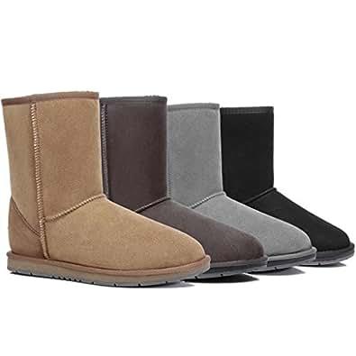 UGG Boots Short Classic - Premium Australian Sheepskin, Water Resistant Non-Slip Black