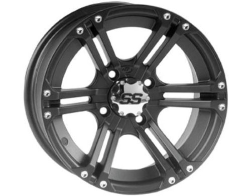ITP 1428376536B SS ALLOY SS212 Matte Black Wheel with Machined Finish (14x8''/4x156mm)