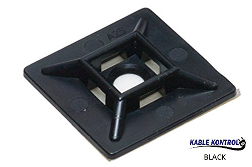 Cable Tie Mounts, Square, (100PK) (1/2