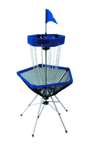 (Innova DISCatcher Traveler Target - Portable, Lightweight Disc Golf Basket, Colors May Vary, Blue)