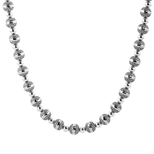 American West Sterling Silver Native Pearl Bead Necklace 21 to 24 inch