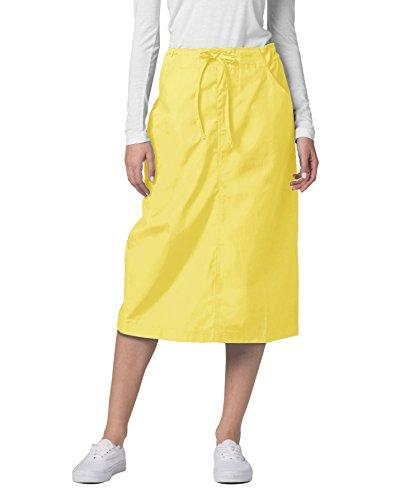 Adar Universal Mid-Calf Length Drawstring Skirt (Available is 17 Colors) - 707 - Banana - Size 6
