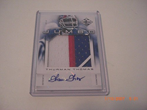 Thurman Thomas 2012 Leaf Limited Jumbo Game Used Jersey Auto 8/10 Signed Card - Football Game Used (Thomas Signed Nfl Game Football)