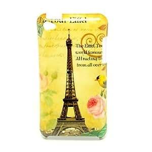 CL - Patrón de la torre Eiffel Caso duro de la contraportada para iPod Touch4