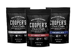 Coopers Cask Coffee Whisky y Ron del barril de café frijol Box Set, 3 bolsas