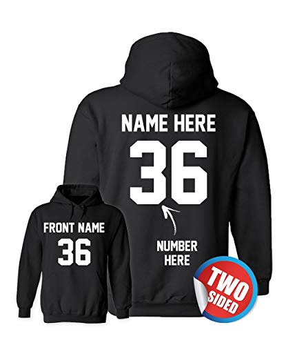 Custom Jersey Hoodies - Design Your Own Sweatshirts - Personalized Hoodys for Hockey ()