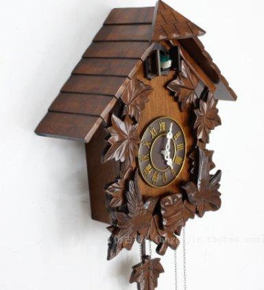 Relojes de cuco antiguos relojes de cuco hechos a mano madera maciza tallada pared reloj-estilo reloj de pared: Amazon.es: Hogar