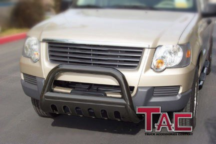 TAC 2005-2017 FRONTIER (Tow hooks must be removed) /2005-2015 NISSAN XTERRA / 2005-2012 PATHFINDER BULL BAR BLACK Bumper Brush - 2006 Tow Bar