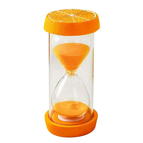 Time Teacher Friends Watch (Merryoung 15/30/60mins Vibrant Fruits Hourglass Sand Clock Timer for Kitchen Cooking Kids Games Dining Study Teacher Autism Children Brush Teeth Countdown (15 Minutes, Orange))