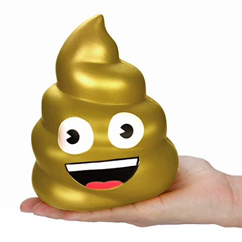 Stress Reliever Toys, Squishies Kawaii Jumbo Poo Super Slow Rising Cream Scented Stress Relief Toy 2019 New (AS Show) ()