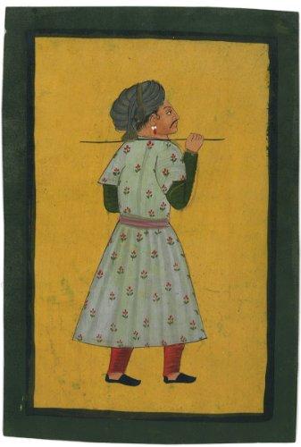 TWO Indian Miniature Antique Original Art, JL-Ind-103, SALE! (Indian Miniatures: Antique Original Art from India)